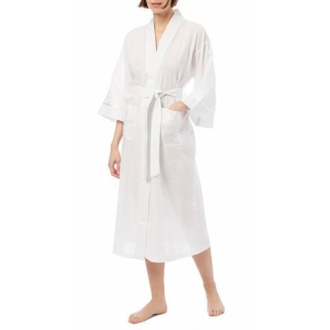 Cottonreal Deluxe Cotton-Lawn Chessboard Check Kimono Wrapover