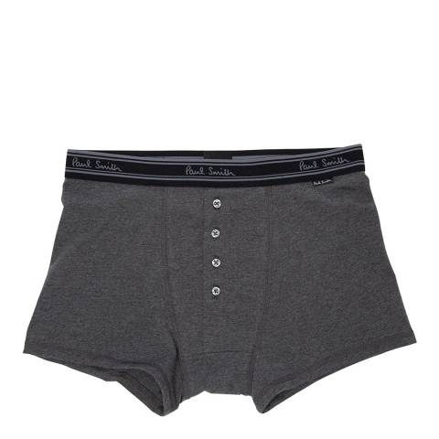PAUL SMITH Grey Four-Button Plain Boxers