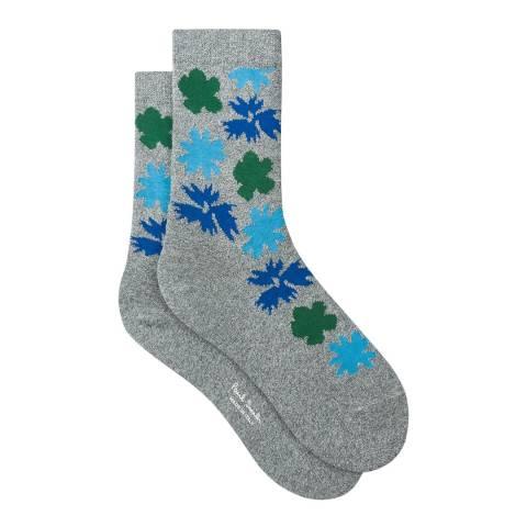 PAUL SMITH Grey/Blue Juniper Sock