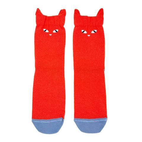 PAUL SMITH Red Elsa Ear Socks