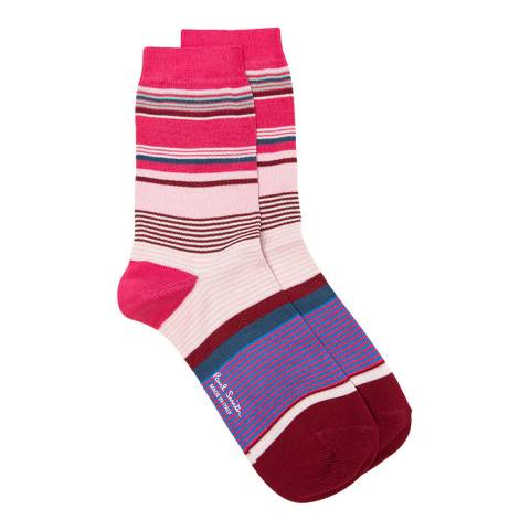 PAUL SMITH Pink/Multi Eliza Sock
