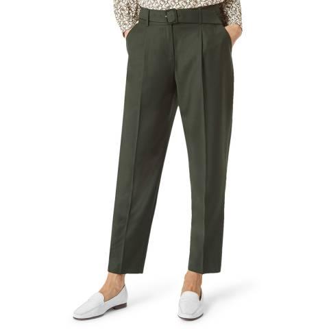Hobbs London Khaki Harrietta Wool Blend Trousers