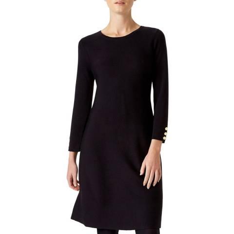 Hobbs London Navy Cora Knitted Wool Blend Dress