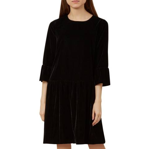 Hobbs London Black Giana Velvet Dress