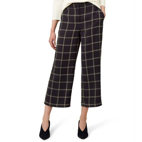 Hobbs London Navy Check Lula Trousers
