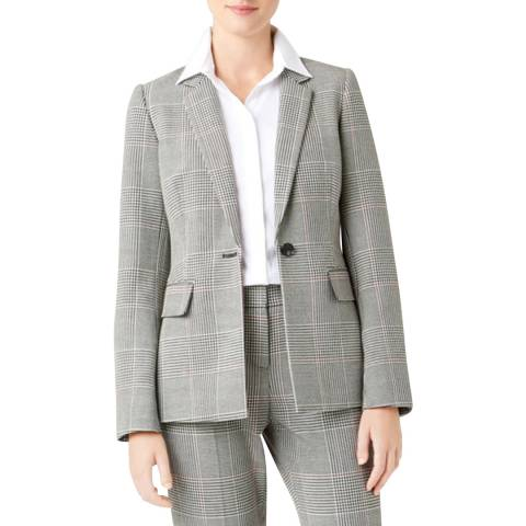 Hobbs London Grey Check Anthea Jacket
