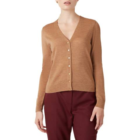 Hobbs London Camel Matilda Wool Cardigan