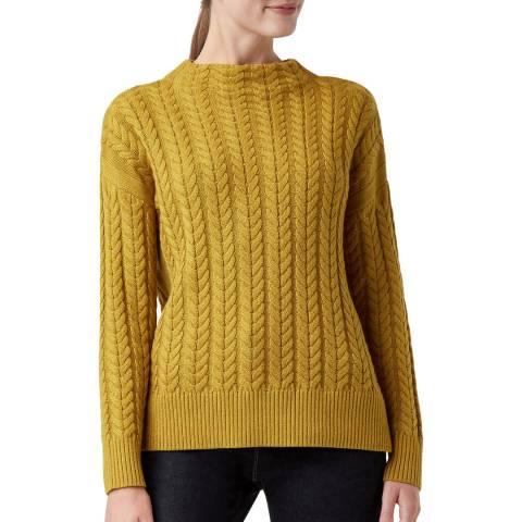 Hobbs London Yellow Abigail Wool Blend Jumper