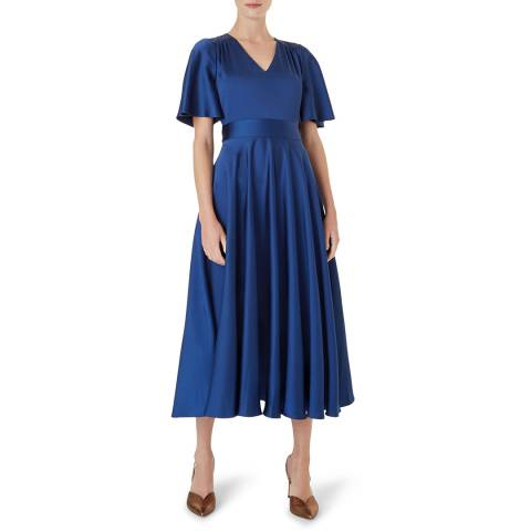 Hobbs London Blue Angelina Dress