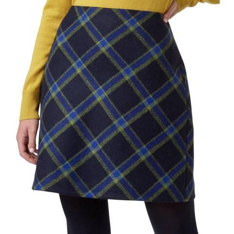 Hobbs London Navy Elea Wool Skirt