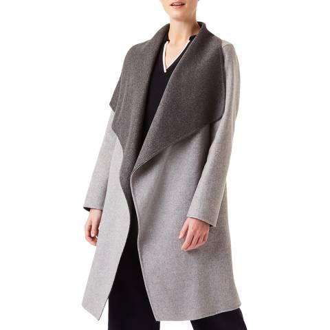 Hobbs London Grey Gabriella Wool Coat