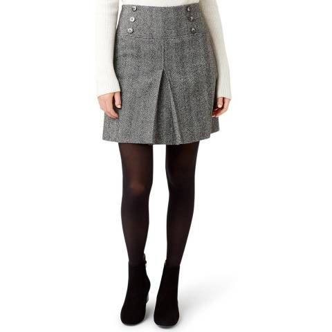 Hobbs London Black Joy Wool Skirt