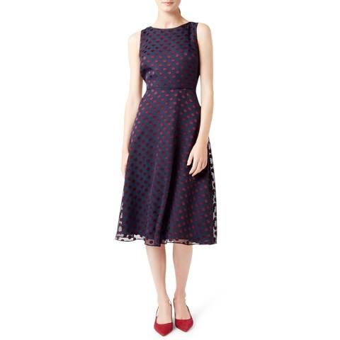 Hobbs London Navy Adeline Dress