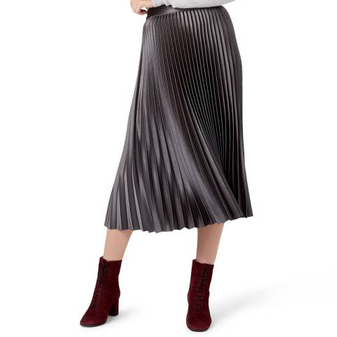 Hobbs London Black Metallic Sophie Skirt