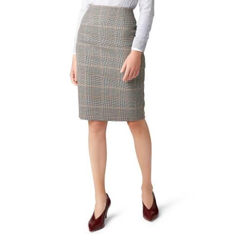 Hobbs London Multi Check Sophia Wool Blend Skirt