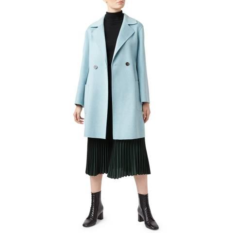 Hobbs London Pale Blue Aly Wool Blend Coat