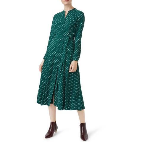Hobbs London Green Tarini Dress