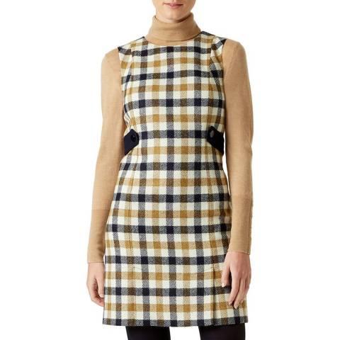 Hobbs London Multi Check Cinthia Wool Dress