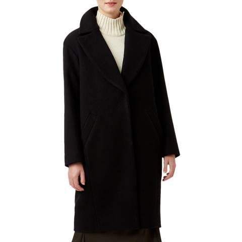 Hobbs London Black Jane Wool Blend Coat
