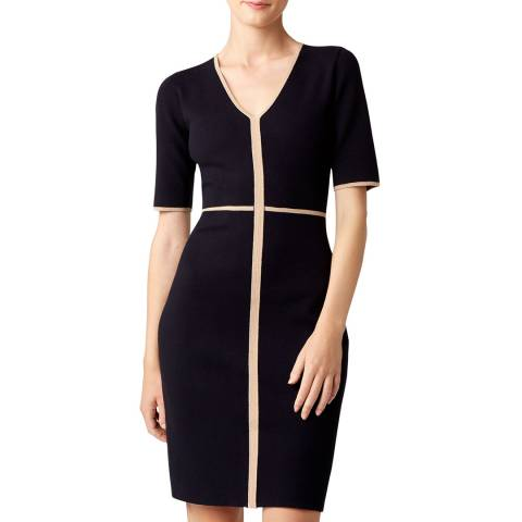 Hobbs London Navy Polly Knitted Dress