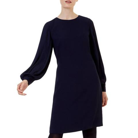 Hobbs London Navy Aisha Dress