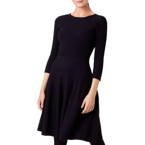 Hobbs London Navy Kath Knitted Dress