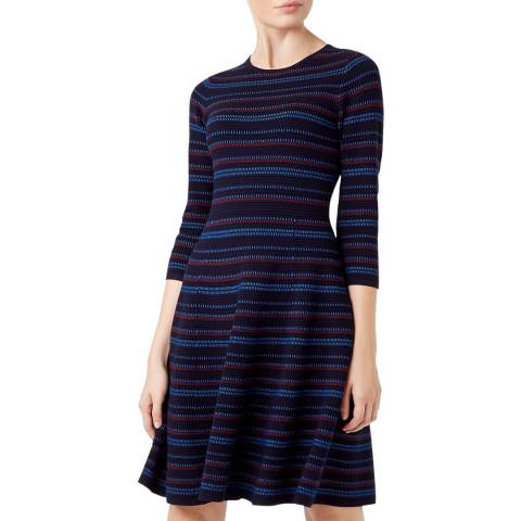 Hobbs London Navy Katie Knitted Dress