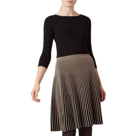 Hobbs London Black Naomi Knitted Dress