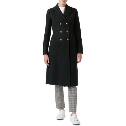 Hobbs London Green Bianca Wool Blend Coat