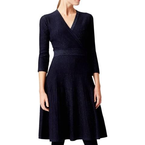 Hobbs London Navy Ellie Knitted Dress
