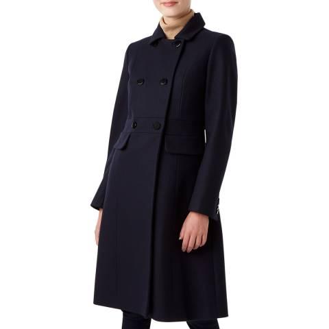 Hobbs London Navy Petite Corrine Wool Blend Coat