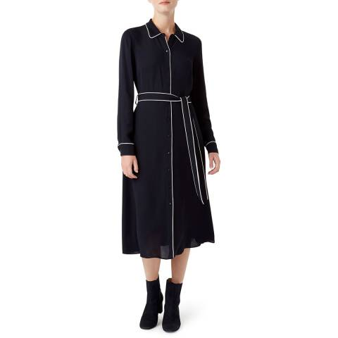 Hobbs London Navy Annika Dress