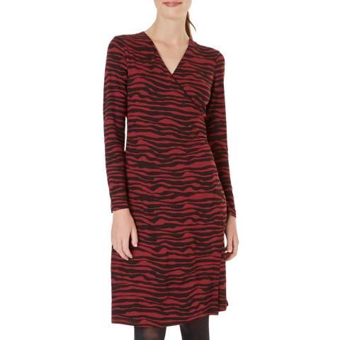 Hobbs London Dark Red Print Odyssey Dress