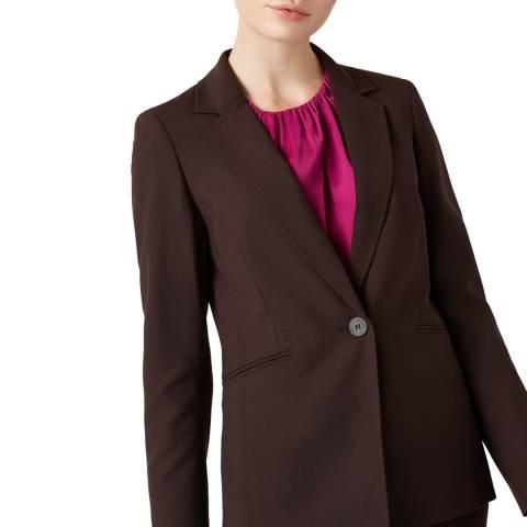 Hobbs London Brown Maxine Wool Blend Jacket