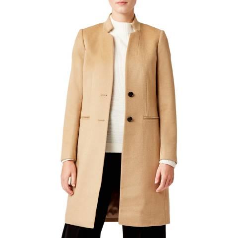 Hobbs London Camel Tilda Revere Wool Coat