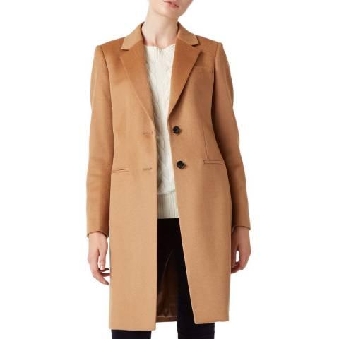 Hobbs London Beige Tilda Wool Coat