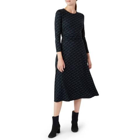 Hobbs London Green Bayview Midi Dress