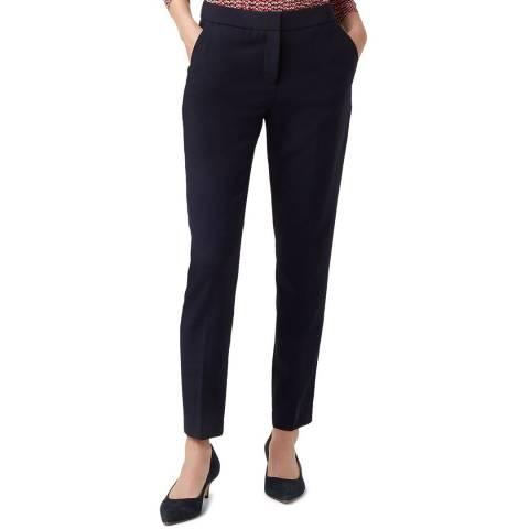 Hobbs London Navy Gael Wool Blend Trousers