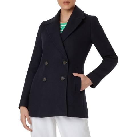 Hobbs London Black Fran Wool Blend Coat