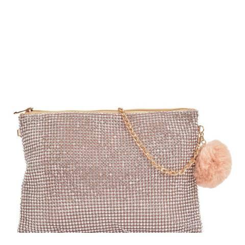 Sofia Cardoni Champagne Crystal Crossbody Bag/Clutch