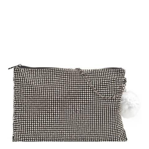 Sofia Cardoni Black Crystal Crossbody Bag/Clutch