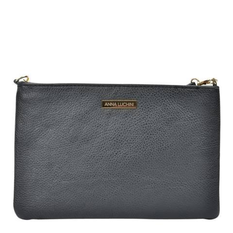 Anna Luchini Black Leather Crossbody/Clutch Bag