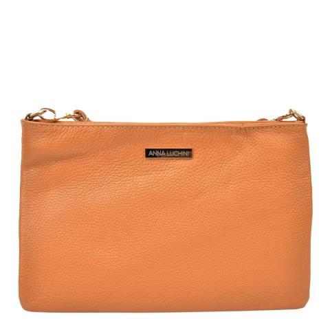 Anna Luchini Cognac Leather Crossbody/Clutch Bag