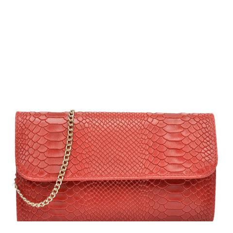 Isabella Rhea Red Leather Crossbody/Clutch Bag