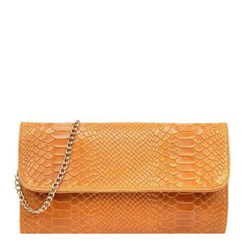 Isabella Rhea Cognac Leather Crossbody/Clutch Bag