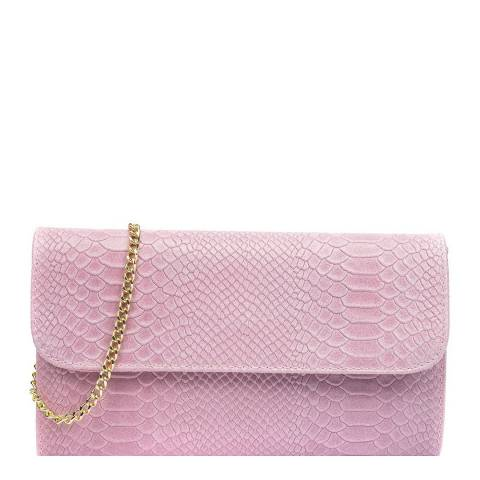 Isabella Rhea Pink Leather Crossbody/Clutch Bag