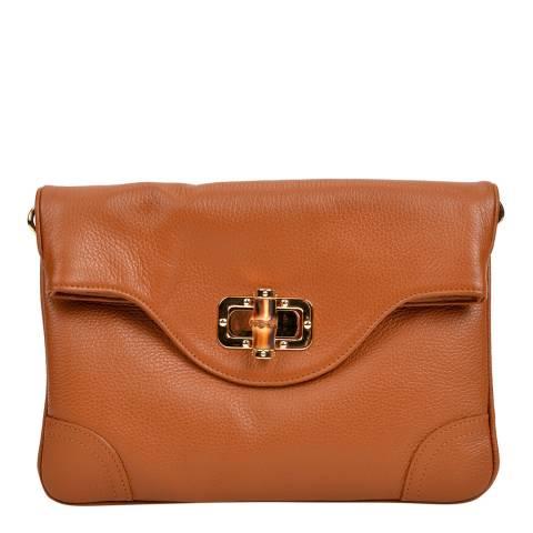Isabella Rhea Cognac Leather Crossbody/Clutch Bag