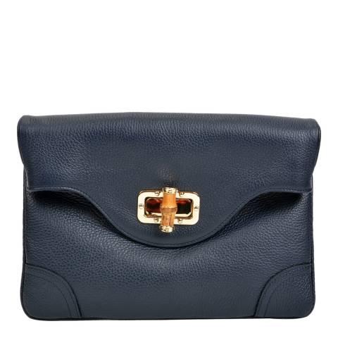 Isabella Rhea Navy Leather Crossbody/Clutch Bag