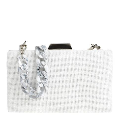 Carla Ferreri White Shoulder/Clutch Bag
