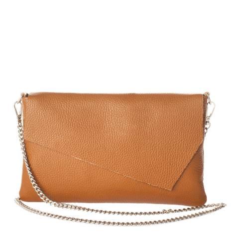 Giorgio Costa Cognac Leather Clutch Bag